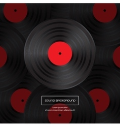 Vinyl record for your design vector