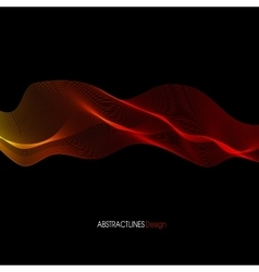 Abstract red Lines Design Black background vector image