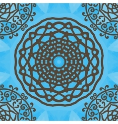 Seamless indian pattern on blue texture abstract vector