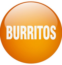 Burritos orange round gel isolated push button vector