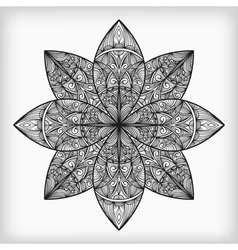 abstract highly detailed monochrome flower vector image vector image