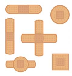 band aid set vector image vector image