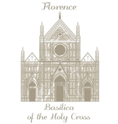 Basilica of the holy cross vector