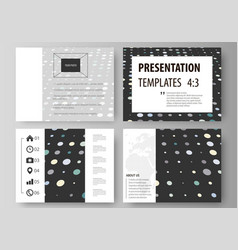 Business templates for presentation slides easy vector