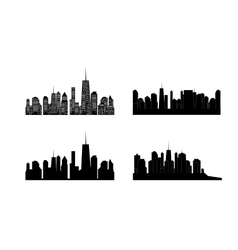 cities silhouette Set EPS 10 vector image