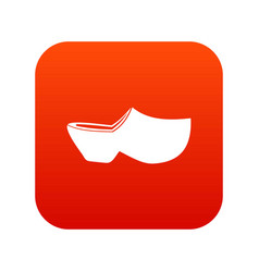 Clogs icon digital red vector