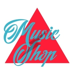 Color vintage music shop emblem vector image vector image