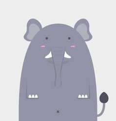 cute fat big elephant vector image vector image