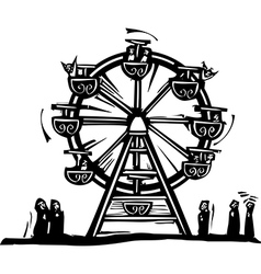 Ferris Wheel vector image vector image