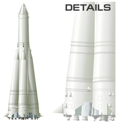 First space rocket vector