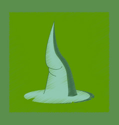 flat shading style icon witch hat vector image
