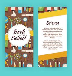 Flyer template of flat design school knowledge vector