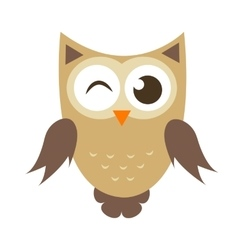 Funny cartoon owl icon vector image vector image