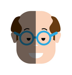 funny man with hairstyle and glasses vector image