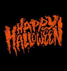 Happy halloween text design lettering vector