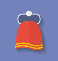 Icon of towel flat style vector