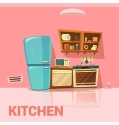 Kitchen retro design vector