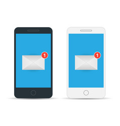 Mobile screen with new mail vector