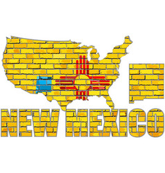 New mexico on a brick wall vector