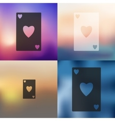 Playing card icon on blurred background vector