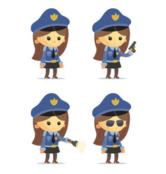 Police girls vector