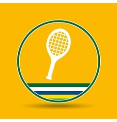 Racket tennis sport badge icon vector