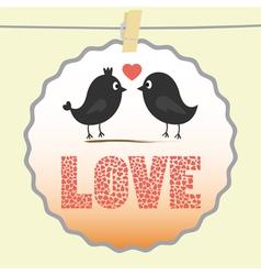Romantic card3 vector image vector image