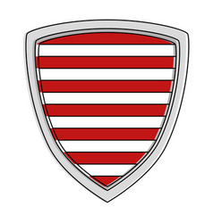 shield with stripes icon vector image