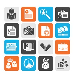 Silhouette employment and jobs icons vector
