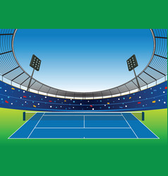 tennis court stadium vector image vector image