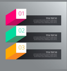 three steps infograph design with different vector image vector image