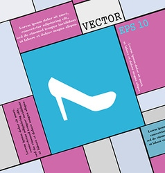 woman shoes icon sign Modern flat style for your vector image