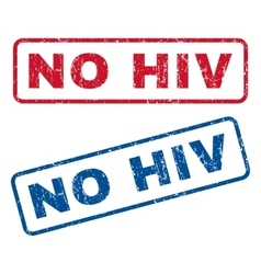 No hiv rubber stamps vector