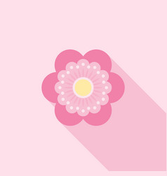 Six petals red flower icon use for logo vector