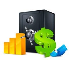 bank safe vector image