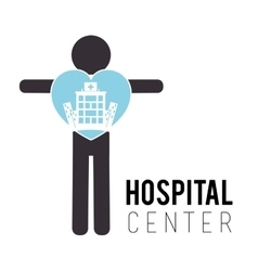 Hospital medical center design vector