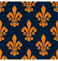 Orange royal french seamless pattern vector