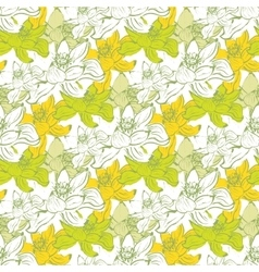Seamless pattern with lotus flowers Stock vector image