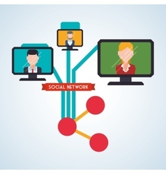 Social network design social media icon isolated vector