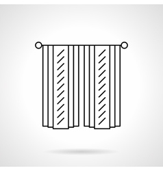 Cotton curtains flat line icon vector