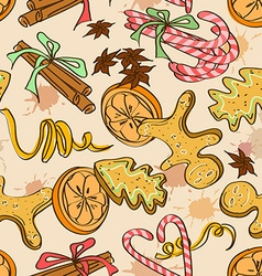 Seamless pattern of christmas sweets vector