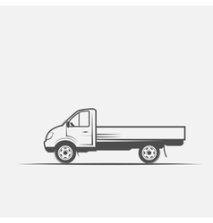 Truck grayscale images on a white background vector
