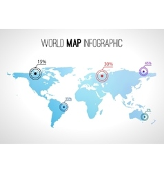 Abstract world map infographic with points and vector