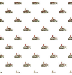 Big factory with pipes pattern vector