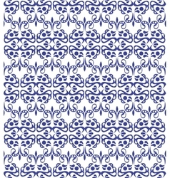 Blue elegant pattern with vintage elements vector image