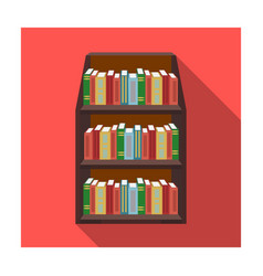 bookcase icon in flat style isolated on white vector image vector image