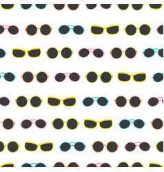 Dark colorful sunglasses stripes summer vector