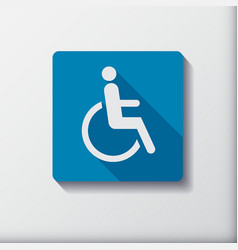 Disabled icon sign flat symbol design vector