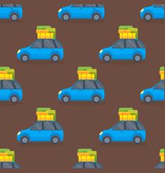 Flat car vehicle type design sedan seamless vector