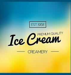 ice cream and frozen yogurt logo vector image vector image